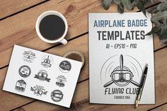 Airplane Badge & Logo Designs by JeksonGraphics on @creativemarket