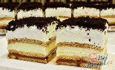 Nepečené 3BIT řezy Something Sweet, Polen, Torte Cake, Salty Snacks, Mascarpone, Diy Food, Nutella, Tiramisu, No Bake Cake