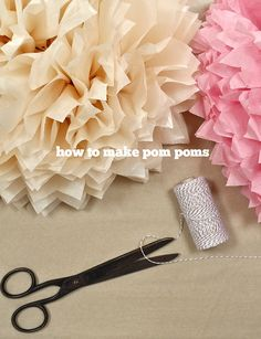 How to make pom poms, follow these easy instructions from a few things from my life blog.