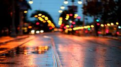 Blurred City Lights Cover Photo | Img Need