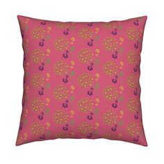 Catalan Throw Pillow featuring AUTUMN CHIVES by clairecoloursme | Roostery Home Decor