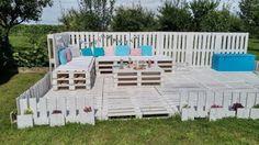 Bricolage une terrasse et un salon de jardin en palettes  2Tout2Rien