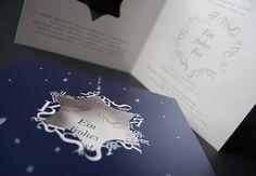 Edle Weihnachtskarte mit Stanzung / Cut-out Christmas Card / by FISCHUNDBLUME DESIGN, Berlin / http://www.fischundblume.de