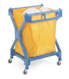 Folding Laundry Trolley - Plastic