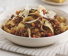Bolognese Sauce with Pancetta, Porcini & Rosemary