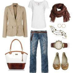 Classic Neutrals, created by bluehydrangea on Polyvore