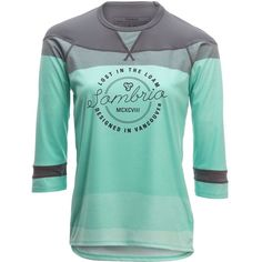 Sombrio Noble Jersey - Long-Sleeve ($65) ❤ liked on Polyvore featuring activewear, activewear tops, blue jersey, baseball tshirt, baseball style t shirts, baseball t shirts and long sleeve baseball t shirts