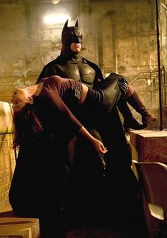 Batman Begins - Batman and Rachel Dawes
