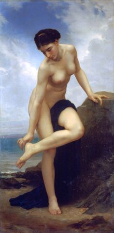 William-Adolphe Bouguereau, After the Bath, 1875.