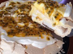 Passion fruit Pavlova 百香果蛋白甜餅 Pavlova, Cheesesteak, Passion, Fruit, Cake, Ethnic Recipes, Food, Pie Cake, Meal