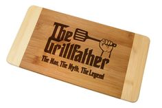 Cutting Board The Grill Father Laser Engraved God Father In Store Breaking Bad Let's Cook in Store Wedding Birthday Gift Father's Day