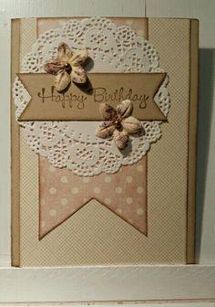 Pretty doilie birthday card