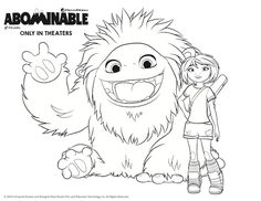 Kolorowanki Yi i Everest z Abominable Coloring Sheets, Coloring Pages, Everest, Niece And Nephew, Chinese Culture, Disney Art, Painted Rocks, Winter Wonderland, Activities For Kids