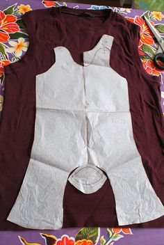 Make your own jumpsuite. use old Tshirts!  by Justina Maria Louisa, via Flickr