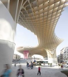 By Architects J. Mayer. H - a giant latticed timber canopy forms part of their redevelopment of the Plaza de la Encarnacíon in Seville, Spain.