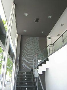 Ideas de #Contract de #Recibidor, #Vestibulo, #Escalera, estilo #Contemporaneo diseñado por AREA, estudi d'arquitectura. Marcel Torres Arquitecto con #Doble altura #Peldaños  #CajonDeIdeas