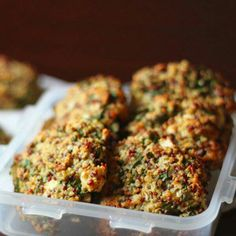 Yes, baked quiona and kale patties