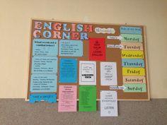English corner/ board