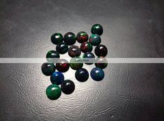 10 Pieces 4mm Black Opal Round Cabochon Flat Back Natural