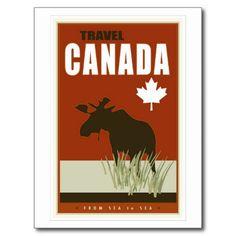 Imagen hermosa del viaje de Canadá que representa los alces y la hoja de arce de Great Western.