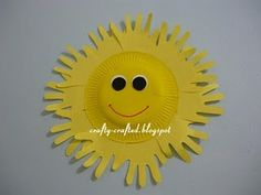 paper plate sunshine - ideas for summer crafts