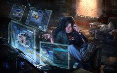 Hacking, Cyberpunk Atmosphere