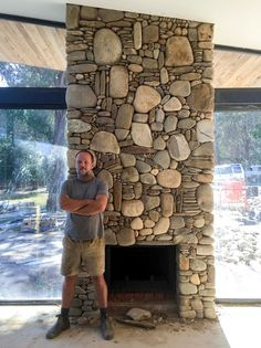 River Stone Fireplace Surround River Rock Fireplaces Outdoor Fireplaces Stone Fireplaces Fireplace Surrounds Fireplace Design Fireplace Ideas Lake Cabins River Rocks Wood Stoves River Rock Fireplace S Masonry Work, Stone Masonry, Stone Fireplace Surround, Fireplace Design, Fireplace Ideas, River Rock Fireplaces, Outdoor Fireplaces, River Stones, River Rocks