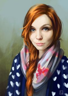 ❤️ this self-portrait by Lorena Lammer https://www.artstation.com/artwork/random-self-portrait-iii?utm_content=buffer8800b&utm_medium=social&utm_source=pinterest.com&utm_campaign=buffer #portraitart #digitalart
