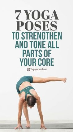 Yoga for core strength can be challenging, but the rewards are worth the effort. Practice these 7 yoga poses to strengthen and tone all parts of your core. I Love Yoga Vinyasa Yoga, Yoga Bewegungen, Yoga Flow, Yoga Abs, Namaste Yoga, Pilates Yoga, Yoga Fitness, Fitness Video, Health And Fitness Tips