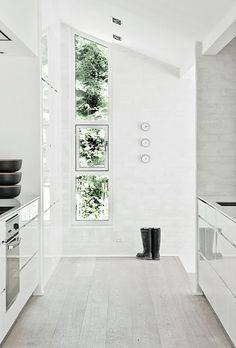 all white balanced with grays, black, and different textures.. more here http://DecoratedLife.com/white-walls-morphing-pale-rooms-fresh-interesting-spaces/
