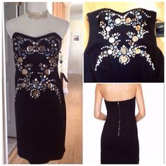 HOST PICKStunning beaded Cocktail Dress Beautiful stunning glistening beaded designer cocktail dress, fully lined, zip back, beautiful fabric, perfect Holiday dress  Adianna Papell Dresses