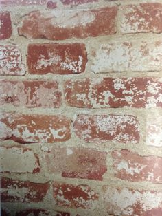 """Rustic colored """"Up the Wall"""" Faux Brick Wallpaper from Country Keepsakes"""