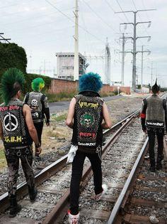 Punks on tracks.