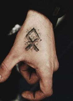 Odal rune tattoo. Amazing effects.