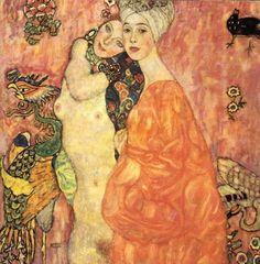Cave to Canvas, Women Friends - Gustav Klimt, 1916-17. Destroyed...