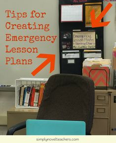 Save your sanity by creating emergency lesson plans!