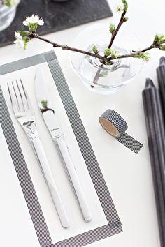 Decorar la mesa con washi tape | Decorar tu casa es facilisimo.com
