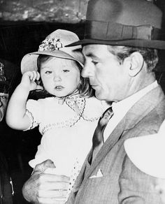 """deforest: """" Gary Cooper and daughter Maria, 1930s """""""