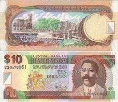 Barbados 10 dólares