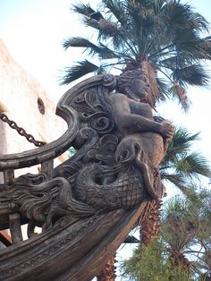 Mermaid ships bow