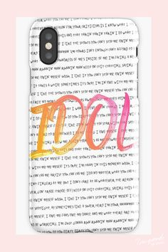 BTS Love Yourself: Answer lyric phone case IDOL Korean Phone Cases, Korean Phones, Kpop Phone Cases, Iphone 8, Pink Iphone, Iphone Phone Cases, Phone Diys, Pink Wallpaper Iphone, Bts Wallpaper