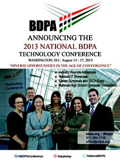 Local #BDPA Chapter newsletter ad for 2013 National #BDPA #Technology #Conference