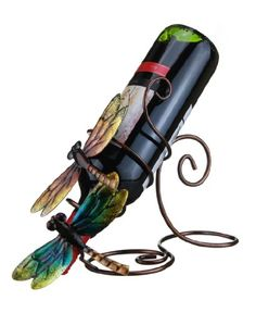 "Dragonfly- Decorative Wine Bottle Holder - Caddy - Display - 8"" X 11"" Prairie Schooner,http://www.amazon.com/dp/B00DII4K9S/ref=cm_sw_r_pi_dp_asnftb1G8N10EGE5"