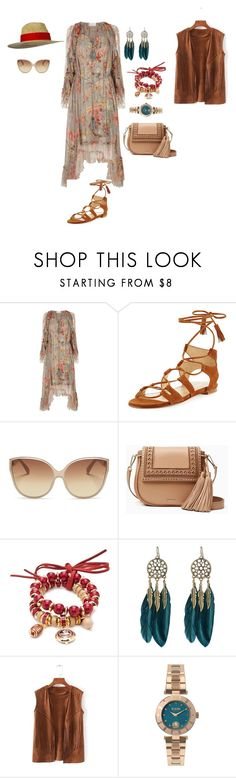 """Untitled #294"" by mary-en ❤ liked on Polyvore featuring Zimmermann, Stuart Weitzman, Linda Farrow, Kate Spade, Accessory PLAYS, WithChic, Versus and hotsummer"
