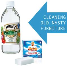 How To Clean Up Old Furniture & Give It New Life With Vinegar And Magic Erasers
