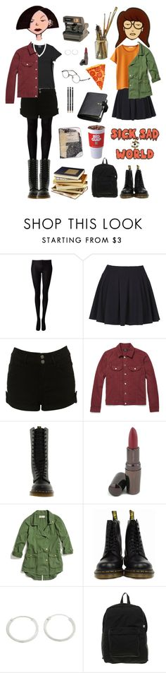lane and morgendorffer by papatuanuku on Polyvore featuring мода, Madewell, Don't Ask Amanda, Dr. Martens, American Apparel, A.P.C., Shiseido, Mulberry, Vision and Polaroid