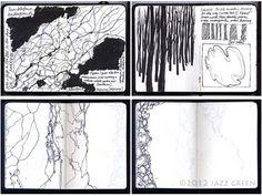 Sketchbook: hedgerow, woods, tree, bark. jazzgreen.com