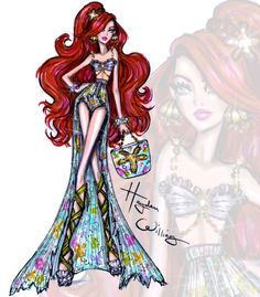 #DisneyDivas 'Beach Beauties' by Hayden Williams: Ariel  Be Inspirational ❥ Mz. Manerz: Being well dressed is a beautiful form of confidence, happiness & politeness