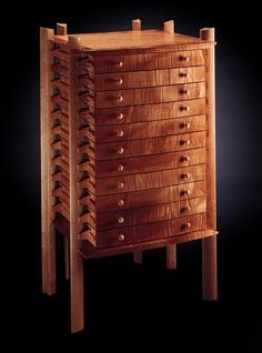 Curly Maple Print Chest More
