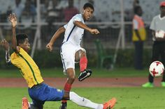 The top two teams of the U-17 football World Cup meet face to face at the Salt Lake Stadium in Kolkata today. The competition between Abel Ruiz of the all skilfuland attacking, Spain and England's newfound prodigy Rhian Brewster would be a visual delight for all the football lovers… Spain Vs Eng...